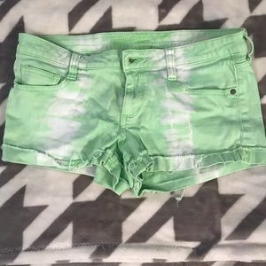 Arizona green tie dye shorts
